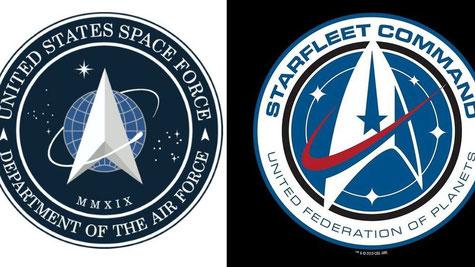 Trump révèle le logo de la force spatiale et il ressemble très fort à celui de la série 'Star Trek'