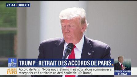Trump retire de l'Accord de Paris sur le climat